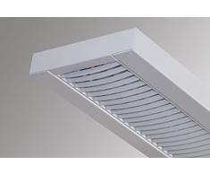 Büroleuchte Rasterleuchte Lampe T5 2x28W mit Osram EVG (Gehäuse weiß/ Raster weiß)