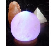 USB-Salzlampe Kugel, Regenbogen-LED-Beleuchtung, wechselnde Farb