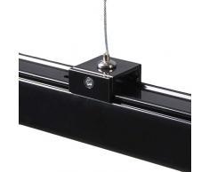 QAZQA Modern Aufhängung 3-Phasen-Schienensystem/Spotlight/Deckenspot/Deckenstrahler/Strahler schwarz/Innenbeleuchtung Stahl LED geeignet Max. x Watt