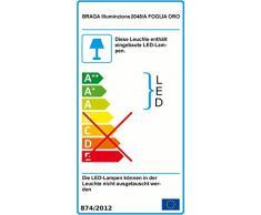 Moderne LED-Wandleuchte | Wandfluter modern - inklusive LED-Platine 16 Watt | Wandlampe mit Blattgold-Verzierung
