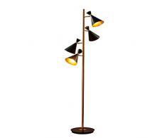 ZMLG Moderne Standlampen Wohnzimmer, 4-flammig 180° Drehung, Augenschonende Stehleuchte mit Fußschalter für Schlafzimmer Industrial Landhaus