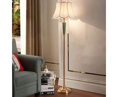 GJIF - Stehlampe Stehleuchte Innenbeleuchtung Kupfer Stehleuchte Antik - Fußschalter (E27)