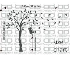 DesignDivil ändere Deine Welt. Weltkarte Wand-Kunst-abziehbild-Aufkleber. perfekt für büro, Schule, spielzimmer und alle wohnbereiche.