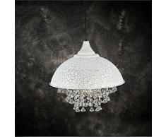 BAYCHEER Industrie Kristall Kronleuchter Hängeleuchter Vintage Stile Retro Lampe (Weiß)