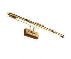 LEDMOMO Spiegelleuchte 50CM Wasserdichte Retro Bronze LED Spiegellampe Bilderleuchte für Badezimmer Beleuchtung (weißes Licht)