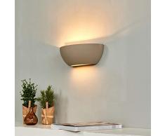 Lampenwelt Beton Wandlampe Renata dimmbar (Modern) in Alu aus Beton, u.a. für Flur & Treppenhaus (1 flammig, E14, A++) | Wandfluter, Wandleuchte, Flurleuchte