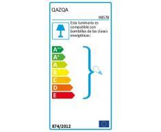 QAZQA Landhaus/Vintage/Rustikal Schwarze Stehlampe mit Leinenschirm taupe 45 cm - Simplo/Innenbeleuchtung/Wohnzimmerlampe/Schlafzimmer Leinen/Stahl Zylinder/Länglich/Rund LED geeignet E27
