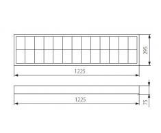 2x36W Büroleuchte/Aufbauleuchte mit EVG, Aufbaurasterleuchte,Leuchte