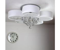 NatsenR Modern Deckenlampe 5 Flammig Kristall Deckenleuchte Designer Wohnzimm Lampe LED E27 75cm