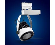 Mextronic 3-PHASEN-STROMSCHIENENSTRAHLER 34W Tageslicht weiss led 3 phasen strahler für Schienensystem