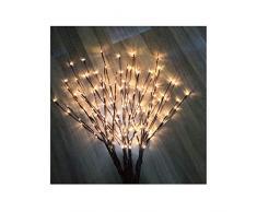 Baum LED Licht Lichterkette Kupferdraht Leuchtzweig Dekoration Lichter Zweig Indoor Outdoor Lichterbaum Weihnachten Beleuchtung mit 100 Lichts, warmes weißes Licht