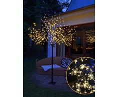 LED Kirschblütenbaum mit 600 LEDs - 250cm - für Innen und Außen - warmweiß