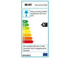WOFI LED Eve Deckenleuchte, Metall, Glas, 5 W, Nickel-matt