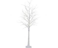 MYALQ Dekorative LED Lichterbaum mit 152 Warm-Weißen Lichtern Beleuchtet 180 cm Hoch, die Lichterzweige sind Flexibel, mit Schalter, Weiß,M