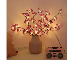 LED Lichterbaum,XshuaiRTE Phalaenopsis Tree Branch Light20LEDs Leuchtzweige innen Schneebaum Batteriebetrieb Innendekoration für Weihnachten,Ostern, Hochzeit Geburtstag Zweigleuchten (Purple)