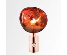 Lavalampe Rot Lavaleuchte 43cm Hoch, E27 Tischlampe Kabelschalter Leuchtmittel Inklusive Vulkanlampe Innen Wohnzimmer Schlafzimmer Lavaleuchte Magmalampe Tischleuchte Wohnzimmer