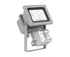 10 Watt LED Wand Bau Strahler Fluter Außenbereich IP44 Bewegungsmelder Lampe Spot beweglich EGLO 93476