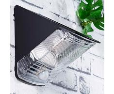 Luminea LED-Wandlampe: LED Solar-Wandleuchte, 2X LED, IP44, PIR-Sensor, schwarz (LED-Solar-Außenlampe, tagesweiß)