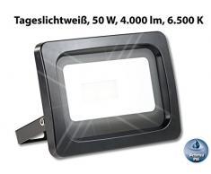 Luminea Strahler: Wetterfester LED-Fluter, 50 W, 4.000 lm, IP65, 6.500 K, tageslichtweiß (Wand-Baustrahler)