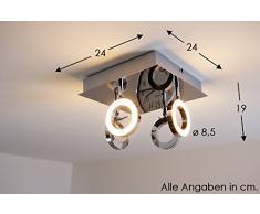 Adel LED Deckenlampe eckig 20 Watt 1280 Lumen warmweiss