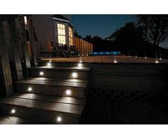 FVTLED 10er große Größe Ø61mm Einbaustrahler LED DC12V Boden Licht IP67 Wasserdicht Einbauleuchten Außen Terrasse Garten Led Lampe