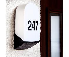 Individuelle Hausnummernbeleuchtung von Philips/ Massive. Außenbeleuchtung inkl. Hausnummern und 5,5 Watt LED Leuchtmittel, Ihre persönliche Wandleuchte! Außenleuchte, Hausnummer, Hausnummernleuchte