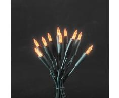 Konstsmide 6302-850 LED Minilichterkette / für Innen (IP20) / 230 V Innen / 35 orange Dioden / grünes Kabel