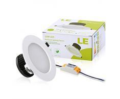 LE LED Einbaustrahler, ersetzt 60W Glühbirnen (25W Leuchtstoffröhren) Flach, 12W Ø 110mm 750lm, Kaltweiß, 6000K, 90° Abstrahlwinkel, LED Einbauleuchten, LED Einbaulampen