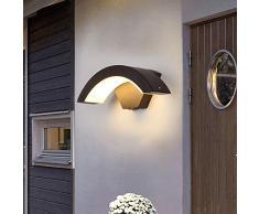 BQYY LED Balkon Wandleuchte Garten Wasserdichte IP65 Aussenleuchten LED Wandlampe Warmweiß licht 3000K Metall Acryl Außenstrahler für Wohnbereiche Landhaus Garage Hof