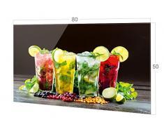 GRAZDesign Küchenrückwand Glas Cocktailbar - Spritzschutz Küche Glas Bar - Glasrückwand Küche Cocktail / 80x50cm