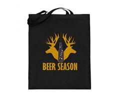 Beer Season Deer Jäger Oktoberfest München Bayern Festzelt Outfit Biertisch Design - Jutebeutel (mit langen Henkeln)
