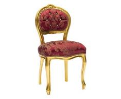 Stuhl Barock Musiker Gold und Rot