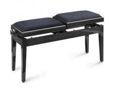 Stagg PB245BKP VBK UK Verstellbare Doppel Klavierbank schwarz