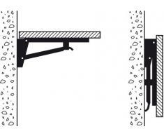Gedotec® Klappkonsole klappbar Klappträger Sitzbank-Konsole Modell Zeus | 420 x 115 x 180 mm | Stahl massiv | Konsole Schwerlast mit 500 kg Tragkraft | Markenqualität für Ihren Wohnbereich
