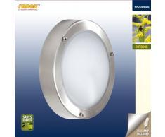 Smartwares 5000.321 Shannon Außenleuchte – Wand-/Deckenleuchte – Edelstahl und Glas – E14 Sockel