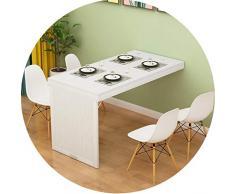Tische Kaffeetische Wandklapptisch Teleskop Unsichtbare Wand Invisible for Wohnzimmer Esstisch Home Küchentisch (Color : White1, Size : 90 * 50 * 75cm)