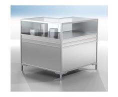 BST LINK Theken-Eckvitrine - 1/3 verglast - HxBxT 900 x 1000 x 1000 mm - Empfangsbereich Modultheke Modultheken Systemtheke Systemtheken Theke Vitrine Empfangsbereiche