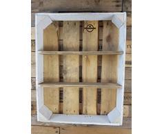 BBQ Regal Gewürzregal ohne Dosen - weißer Rahmen aus alten Obstkisten von Cronenwerth ©