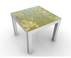 Apalis 46211-276816-855817 Design Tisch Floraler Barock, 55 x 55 x 45 cm, weiß