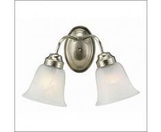 Trans Globe Lighting 3105 BN 2-Light Bath Bar, Brushed Nickel by Trans Globe Lighting