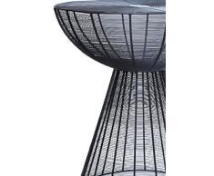 MAADES Retro Design Shabby Chic Tisch Bistrotisch Balkontisch Küchentisch Möbel - Garrocha (Tisch, Schwarz)