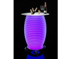 Nikki.Amsterdam The.Bar Table - Multicolor (LED) Partytisch & mobiler Bluetooth-Lautsprecher & Wein- und Eiskühler (Drinnen & Draußen)