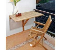Wandklapptisch Sondrio eckig Teak Massivholz Abmessungen 80 x 50 cm + 40,- €