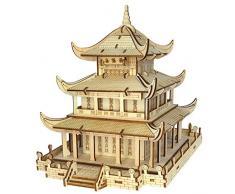 Romanticngt 3D Holz Model Kits Laser Schneidetisch Ornaments Holzpuzzle Modern Home Decor einzigartige Geschenk DIY Bausätze for Erwachsene Kinder