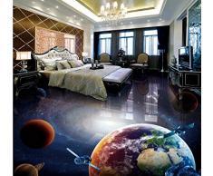 Wandbilder Benutzerdefinierte Universum Galaxie Globus 3D Stereo Badezimmer Wohnzimmer Boden Wandbild Bar Hotel Bodenbelag Tapete-450X300Cm,wallpaper