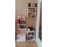 3er Set weiße Kiste für Schuh-und BücherregalQuer - Kistenregal Regalkiste Regal Schuhregal Bücherregal Obstkistenregal - Mittelbrett Einlegeboden Zwischenbrett 50x40x30 cm