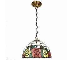Vintage Style Pendelleuchten Mediterrane Kreative Buntglas Kronleuchter Wohnzimmer Höhe Verstellbare Hängelampen Handgefertigte Lampenschirm Loft Hängelampe Küchenbar Cafés E27