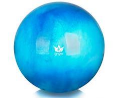 ZenBall Gymnastikball 55 cm inkl. Luftpumpe & Maßband I Premium Sitzball mit Gratis E-Book & Workout-Guide I Balance Ball für Reha, Sport, Büro, Yoga und eine aufrechte Haltung (Beautiful Blue)