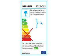 Briloner Leuchten LED Deckenleuchte, Deckenlampe, Spots dreh-und schwenkbar, LED Leuchtmittel inklusive und austauschbar, GU10 6 x 3W, warm-weißes Licht, Länge: 92cm, Farbe: matt-nickel