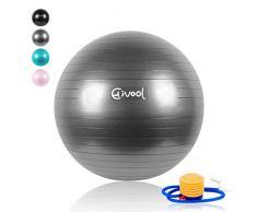 Hivool Gymnastikball(55cm/65cm/75cm/85cm) Explosionssicherer Schlupf Fitness Ball, Balance Training Ball & Sitzball,Yogaball, Pilates-ball Maximalbelastbarkeit bis 500kg inklc Schnelle Pumpe.
